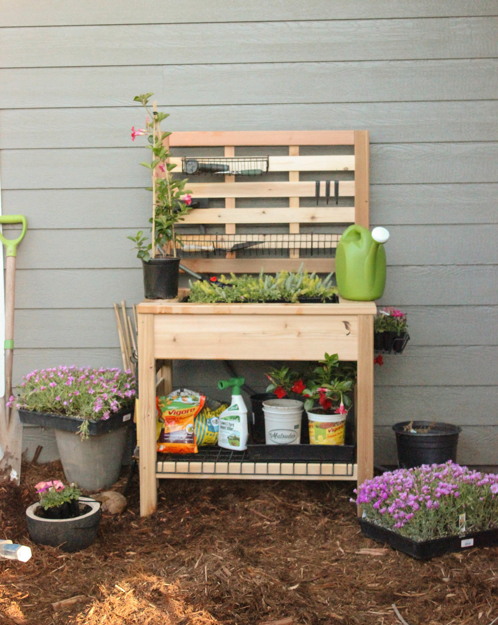 ... Empty Plant Containers And Misc Gardening Gear Iu0027m Usually Looking All  Over The Garage For Everything. One Of The Things That Have Been Lacking In  My ...