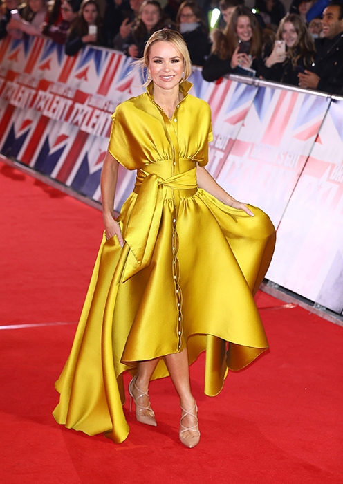 Amanda Holden - Britian's Got Talent Launch 2019   Styled by Karl Willett wearing Alexis Mabille