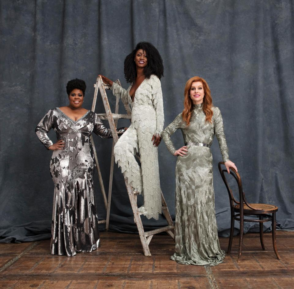 Custom Dress for amber riley - 2017   Made for the Leading ladies album artwork, styled by Karl Willett