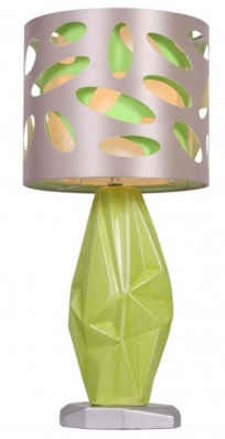 prisca green table lamp