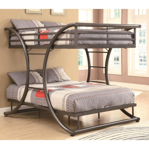 Pensacola Full Full Metal Bunk Bed Coco Furniture Gallery
