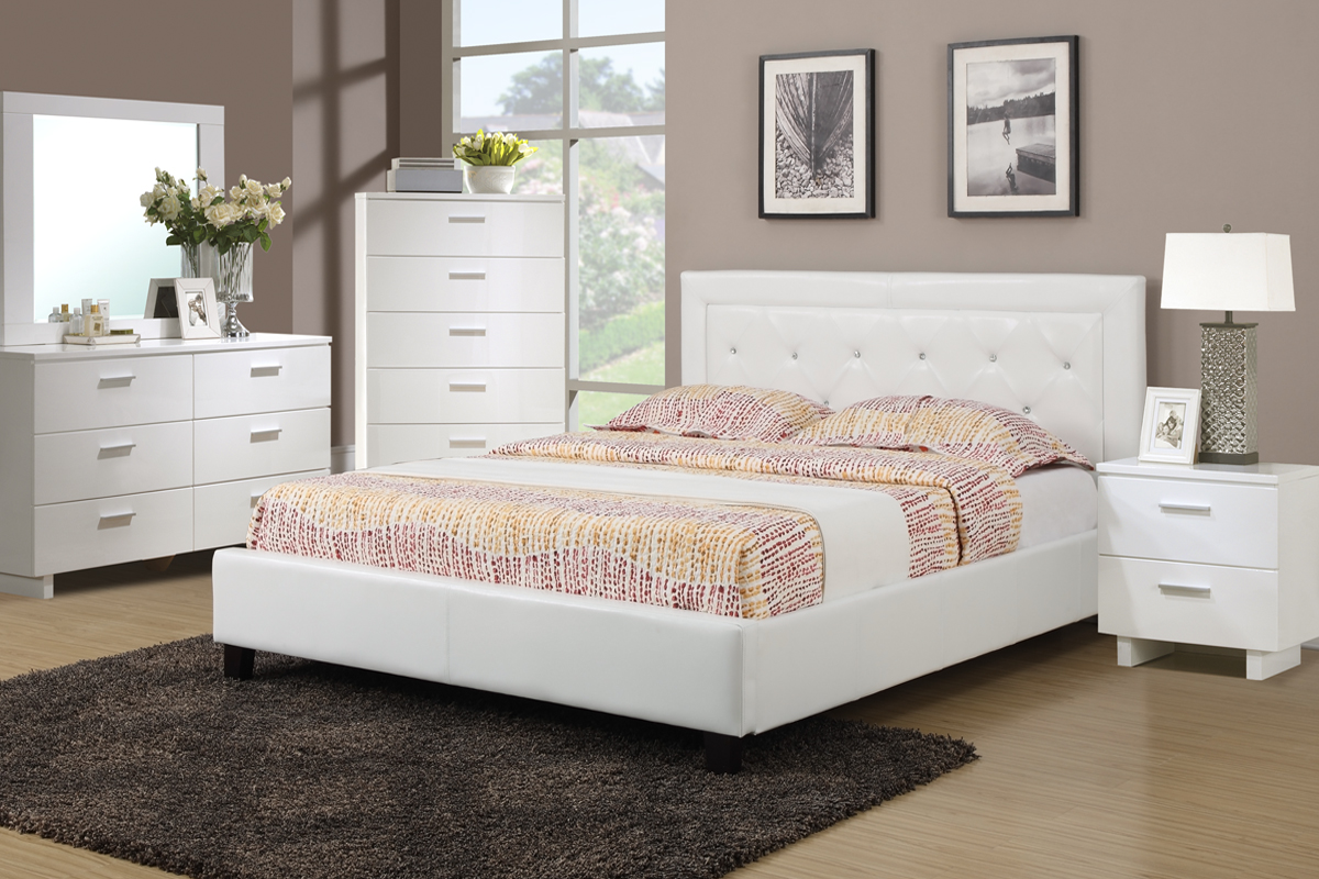 christina - Queen White Bed Frame