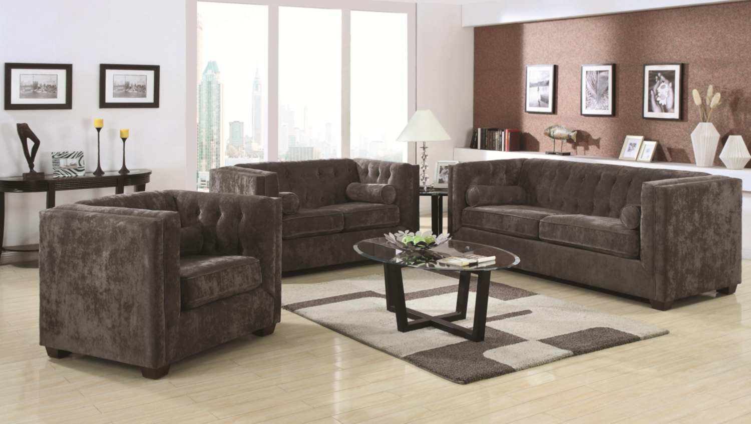 Furniture stores in miami florida - Courtly Charcoal Sofa