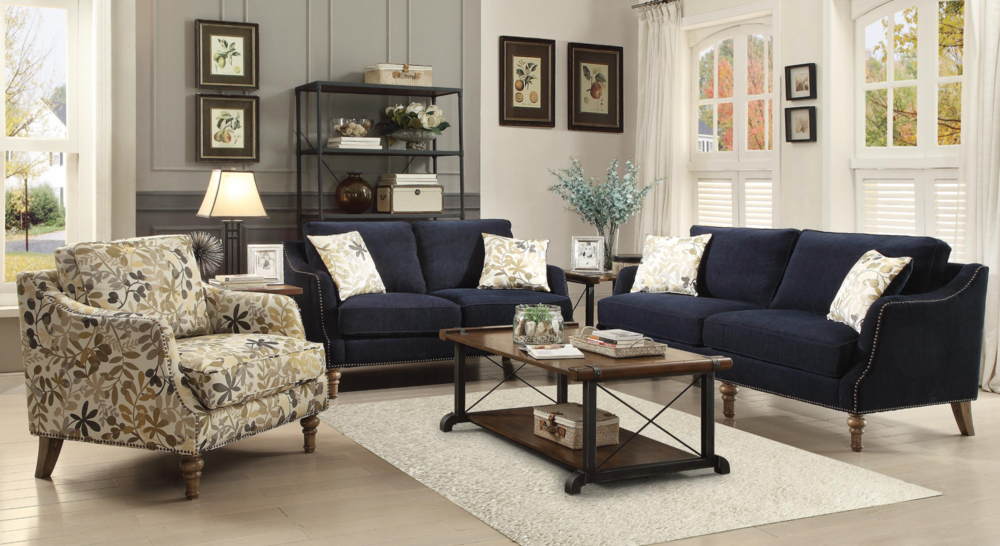 Spring Navy Blue Sofa — Coco Furniture Gallery Furnishing Dreams