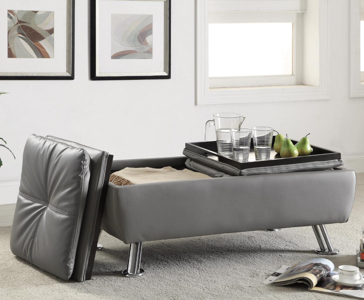 Xenia Storage Ottoman — Coco Furniture Gallery Furnishing Dreams