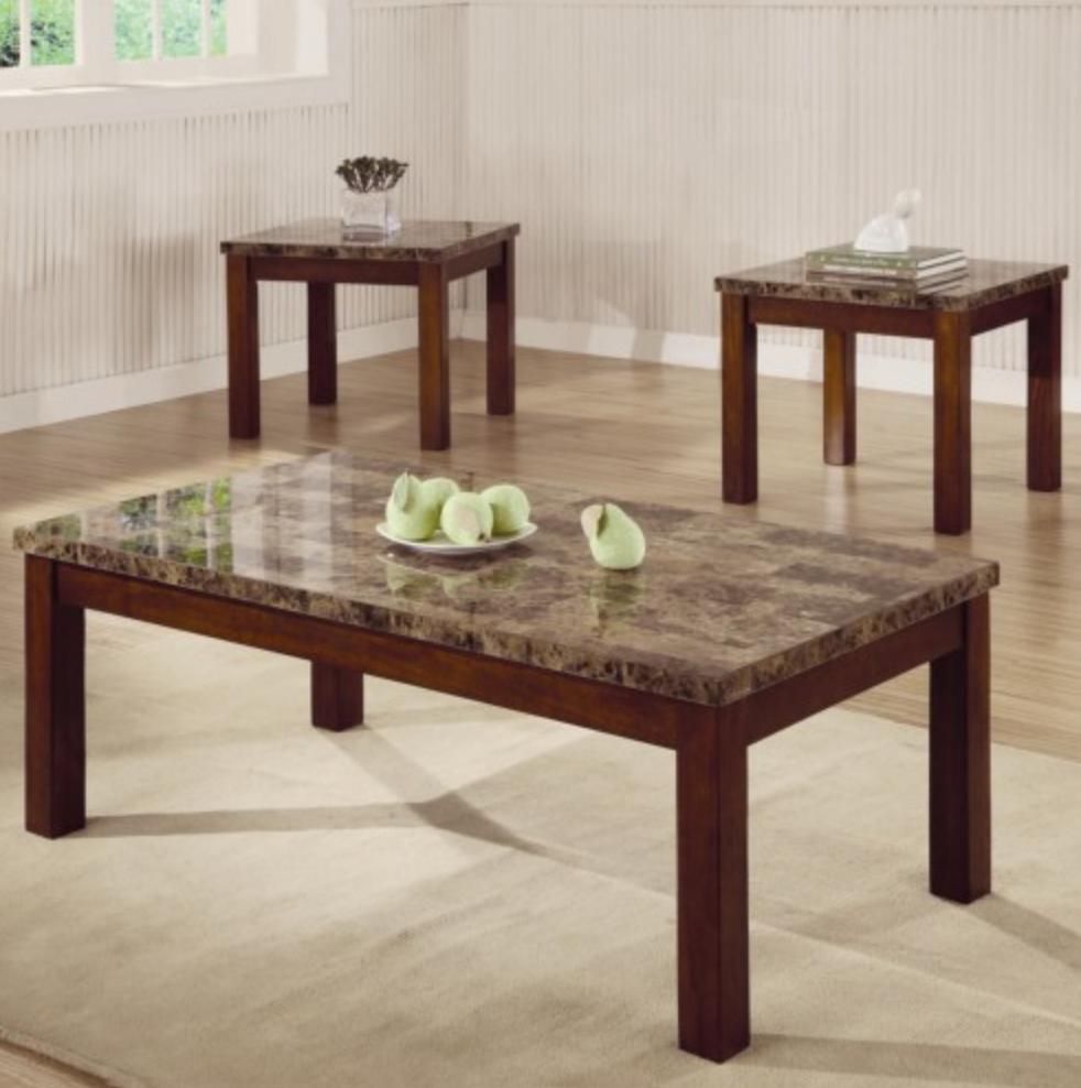 Quen 3pc Marble Coffee Table Set U2014 Coco Furniture Gallery Furnishing Dreams
