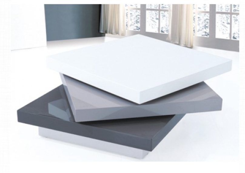 Beau Canada White U0026 Grey Coffee Table
