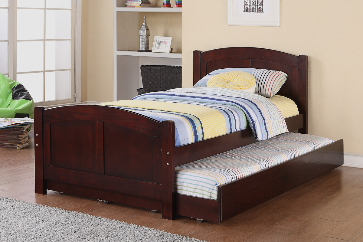 Scott cherry trundle bed coco furniture gallery furnishing dreams