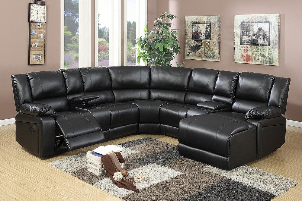 liz black recliner sectional