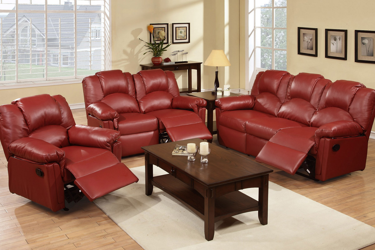 rachel burgundy recliner sofa