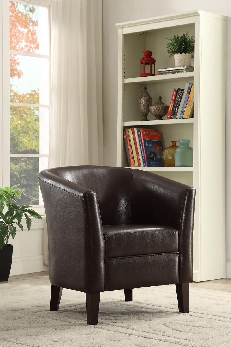 Charmant Brenda Chocolate Accent Chair