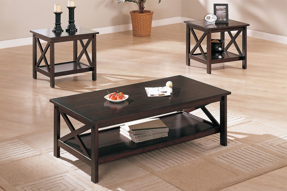 Kiara 3-Piece Coffee Table Set : selena 3 piece occasional table set - pezcame.com