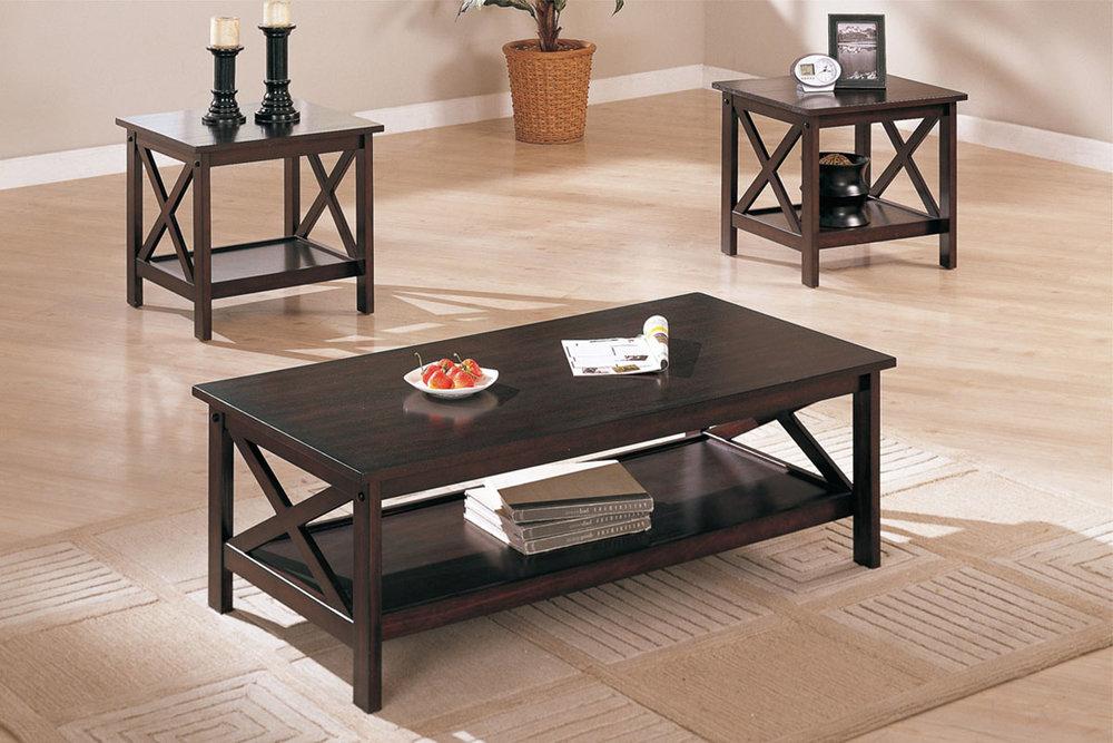 Kiara 3-Piece Coffee Table Set & Occasional Tables \u2014 Coco Furniture Gallery Furnishing Dreams