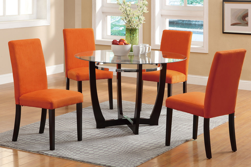 Cindy Orange 5PC Dining Set