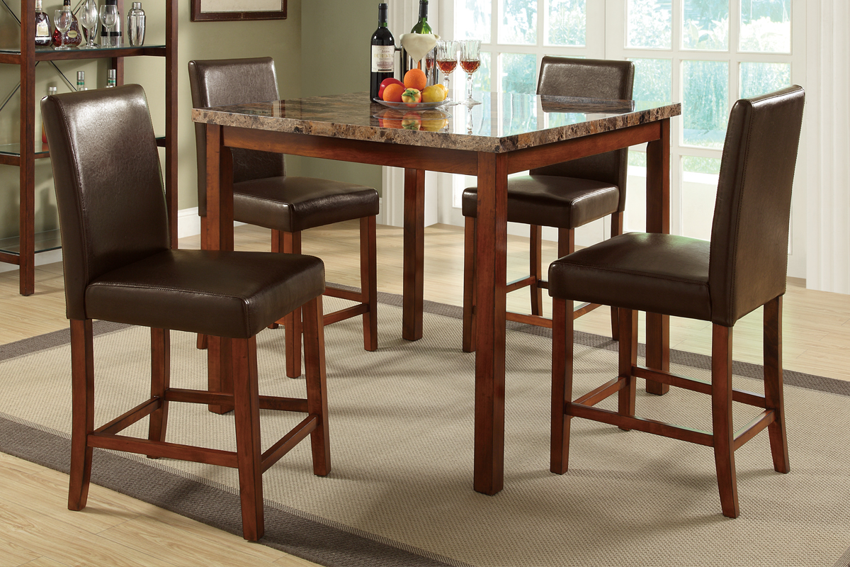 Valentina Counter Height 5PC Dining Set \u2014 Coco Furniture Gallery Furnishing Dreams