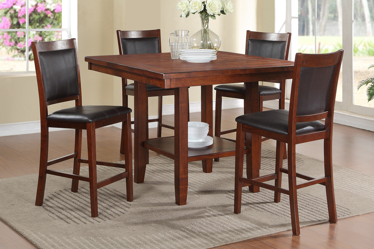 Charmant Ariel Counter Height 5PC Dining Set