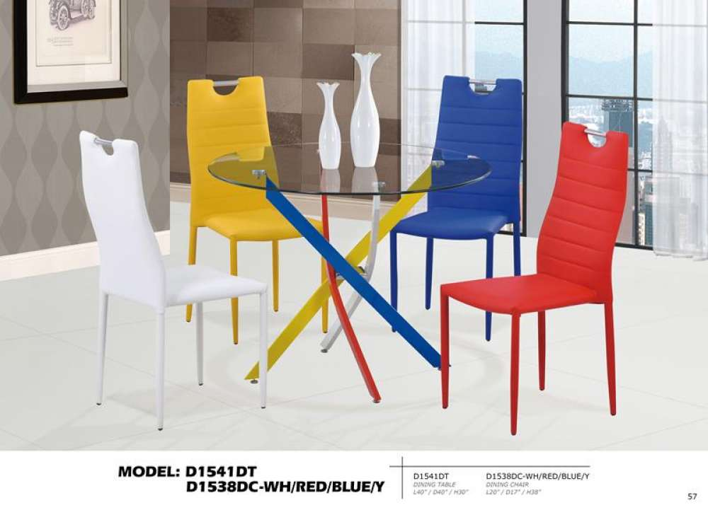 Multicolor Round 5PC Dining Set