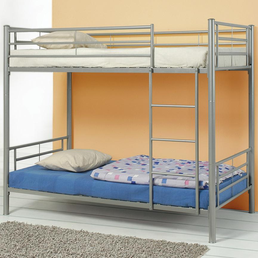 Grey Metal Bunk-Bed — Coco Furniture Gallery Furnishing Dreams