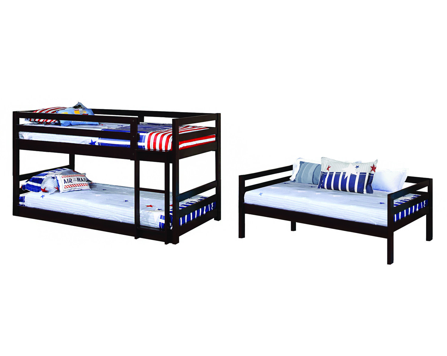 Multiples Black Bunk Bed Coco Furniture Gallery Furnishing Dreams