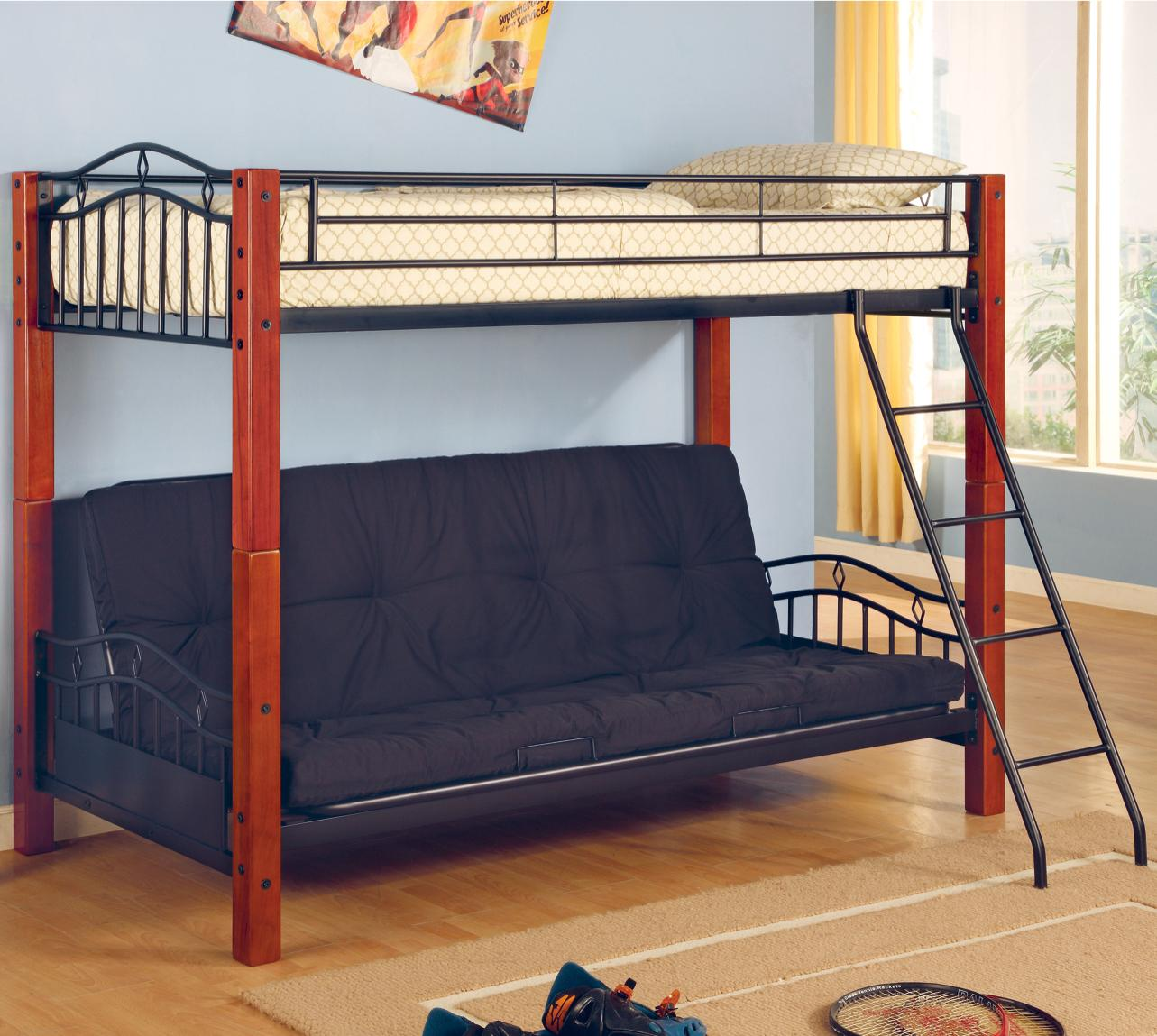 Celina Twin Futon Bunk Bed Coco Furniture Gallery Furnishing Dreams
