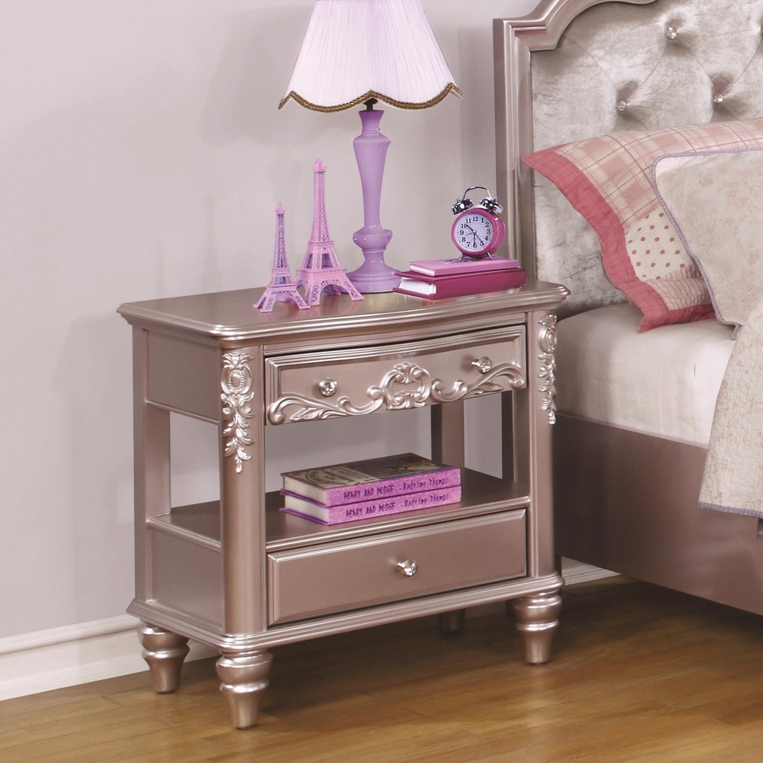 ... Coco Furniture Gallery By Prince Nightstand Coco Furniture Gallery  Furnishing Dreams ...