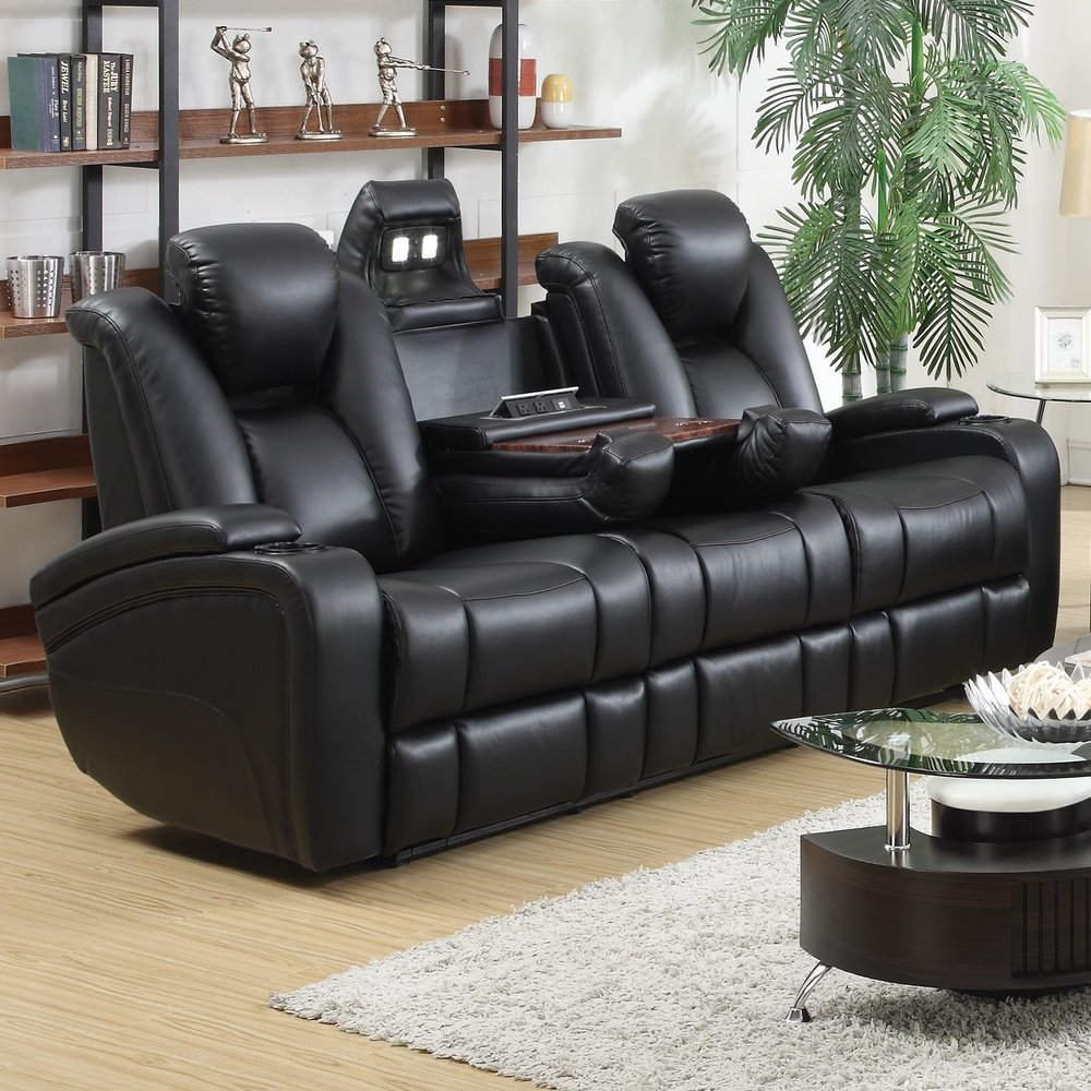 Boston Black Sofa Recliner