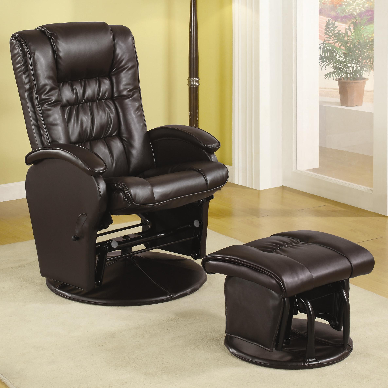 Glenda Recliner Chair U0026 Ottoman Set