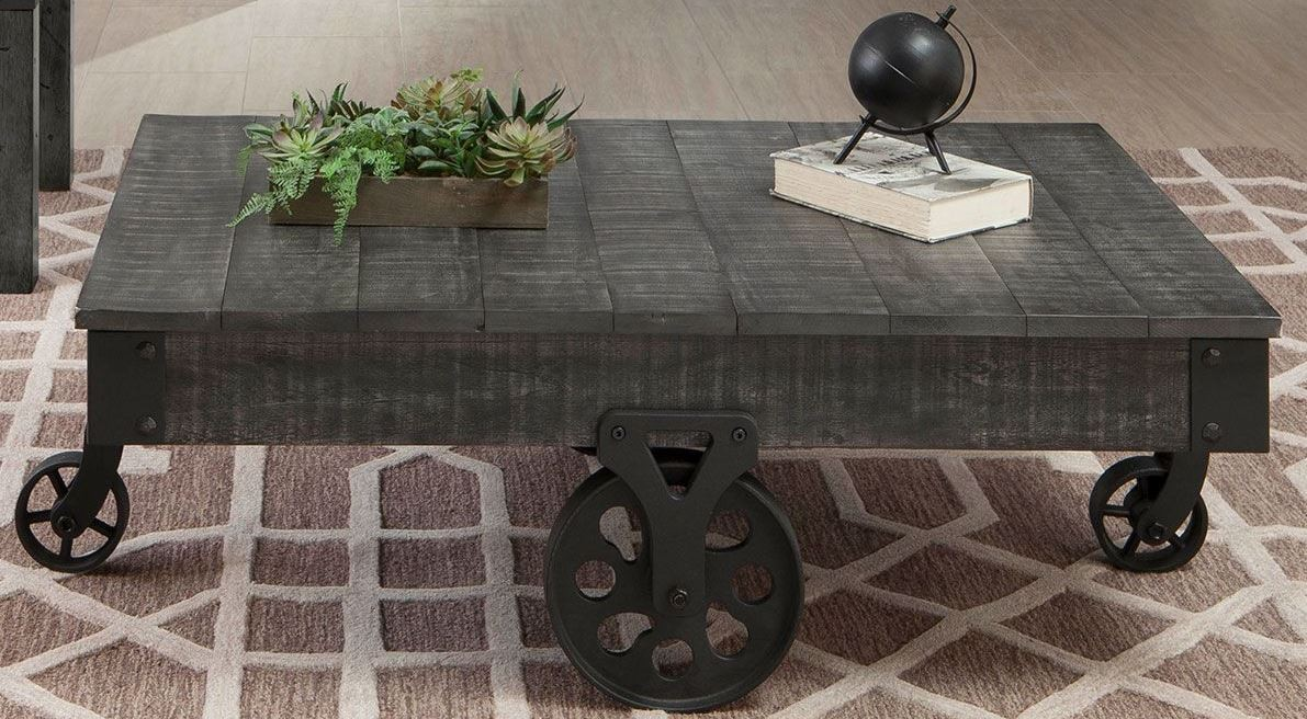 Charmant Rustic Grey Coffee Table