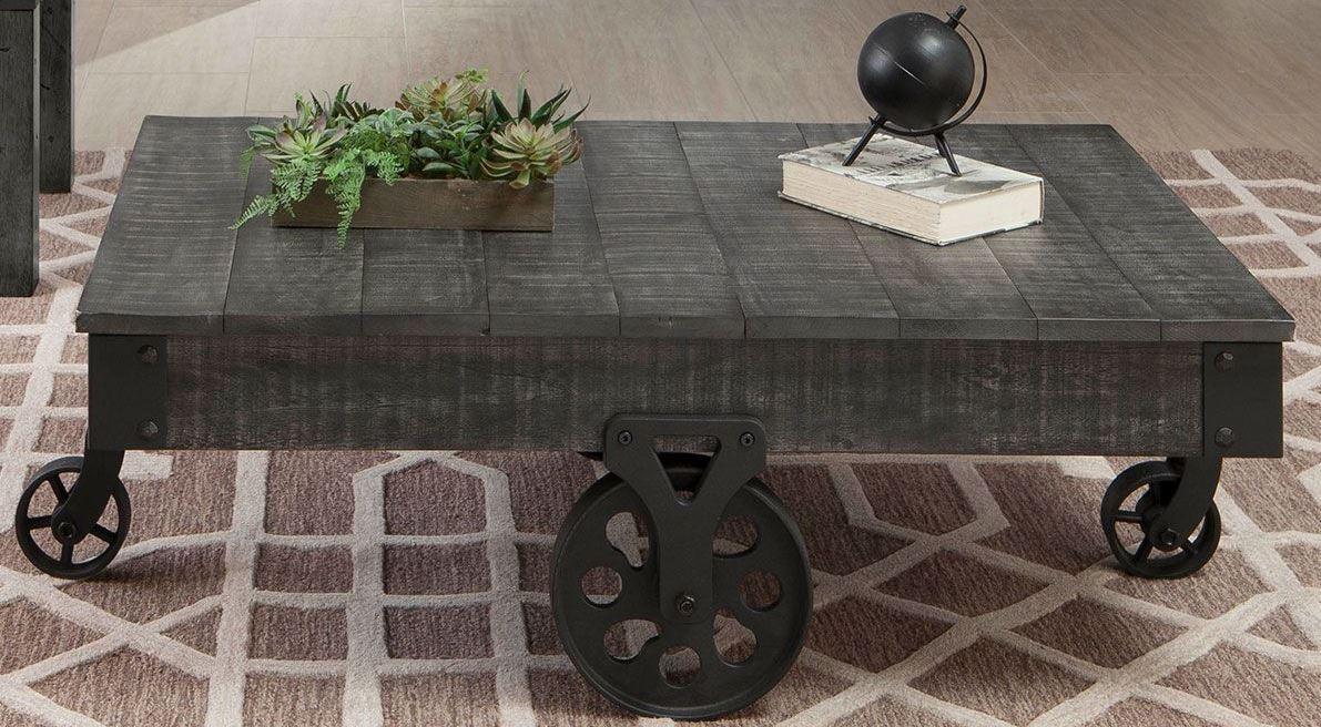Charmant Rustic Grey Coffee Table