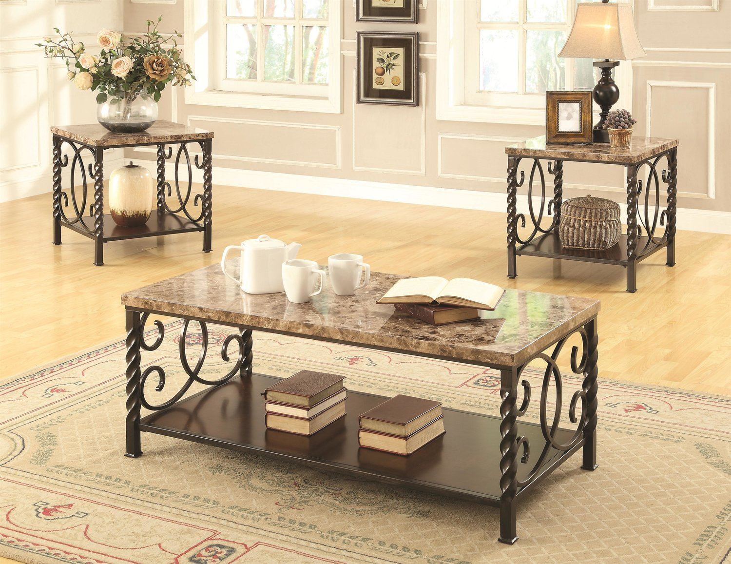 axton 3pc coffee table set — coco furniture gallery furnishing dreams
