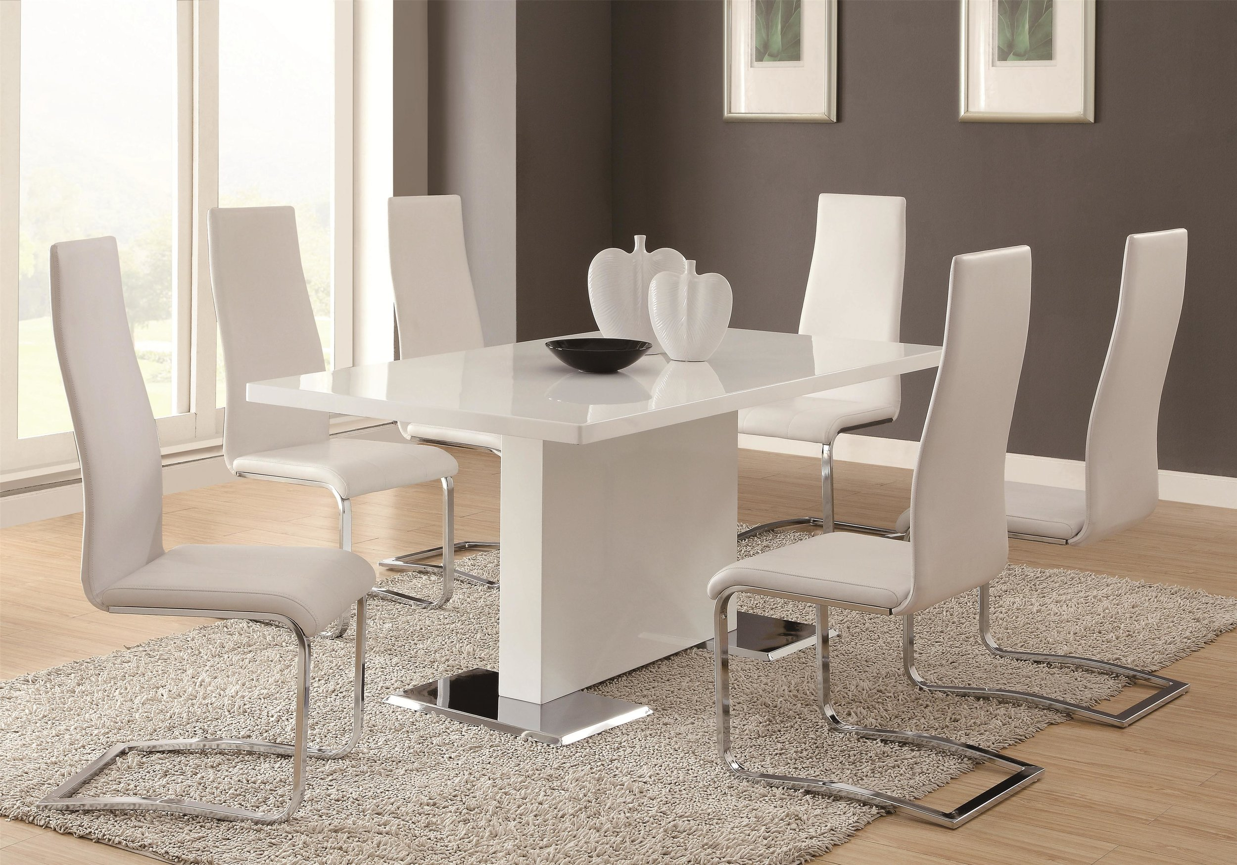 Giovani White 5 Piece Dining Set