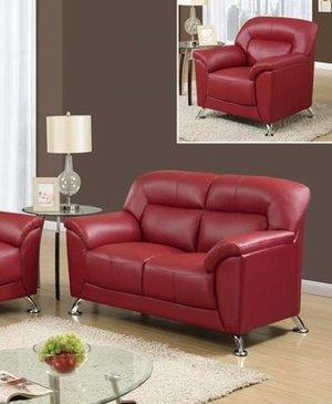 Hayta Red Sofa And Loveseat Set Coco Furniture Gallery Furnishing