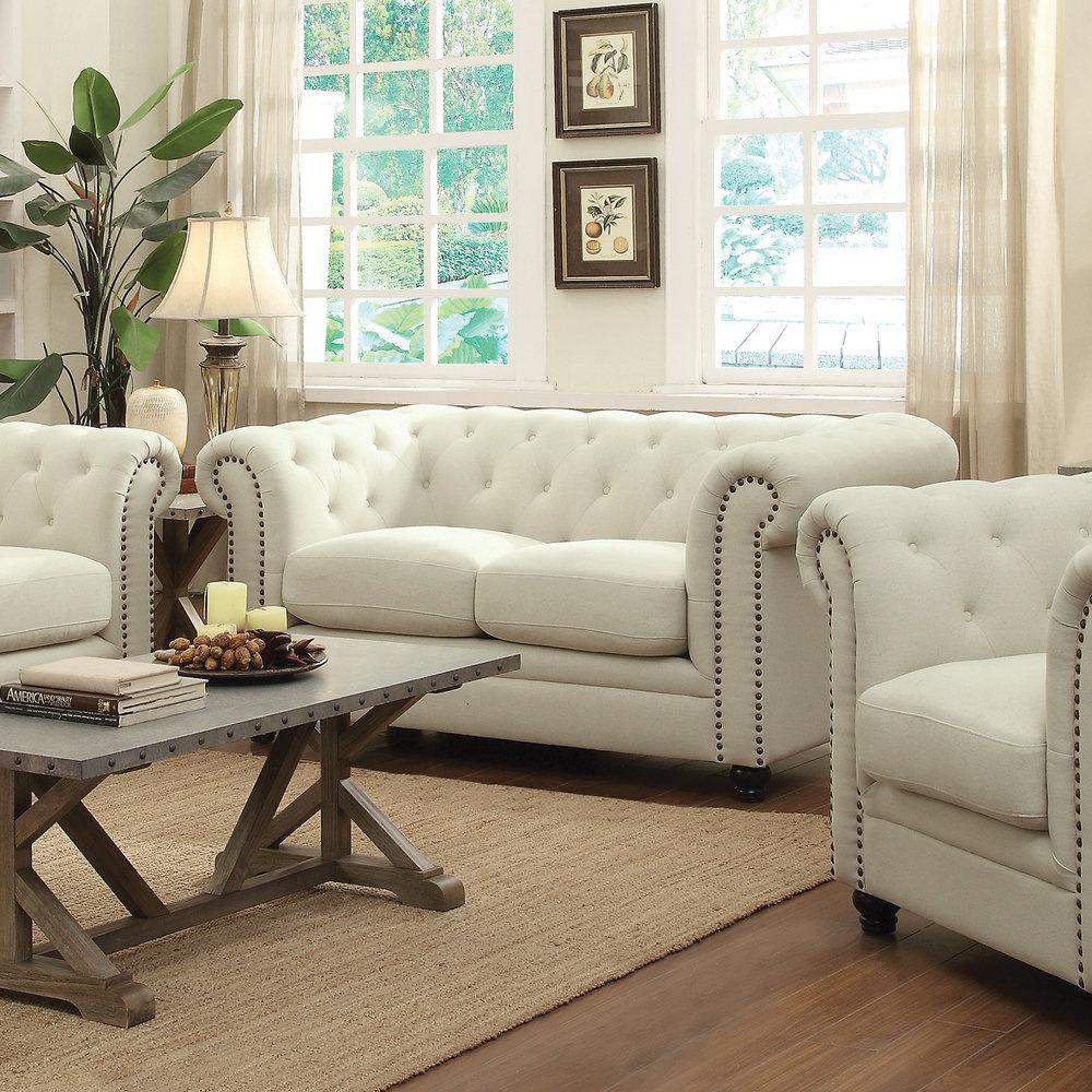 Catalina Cream Sofa Set