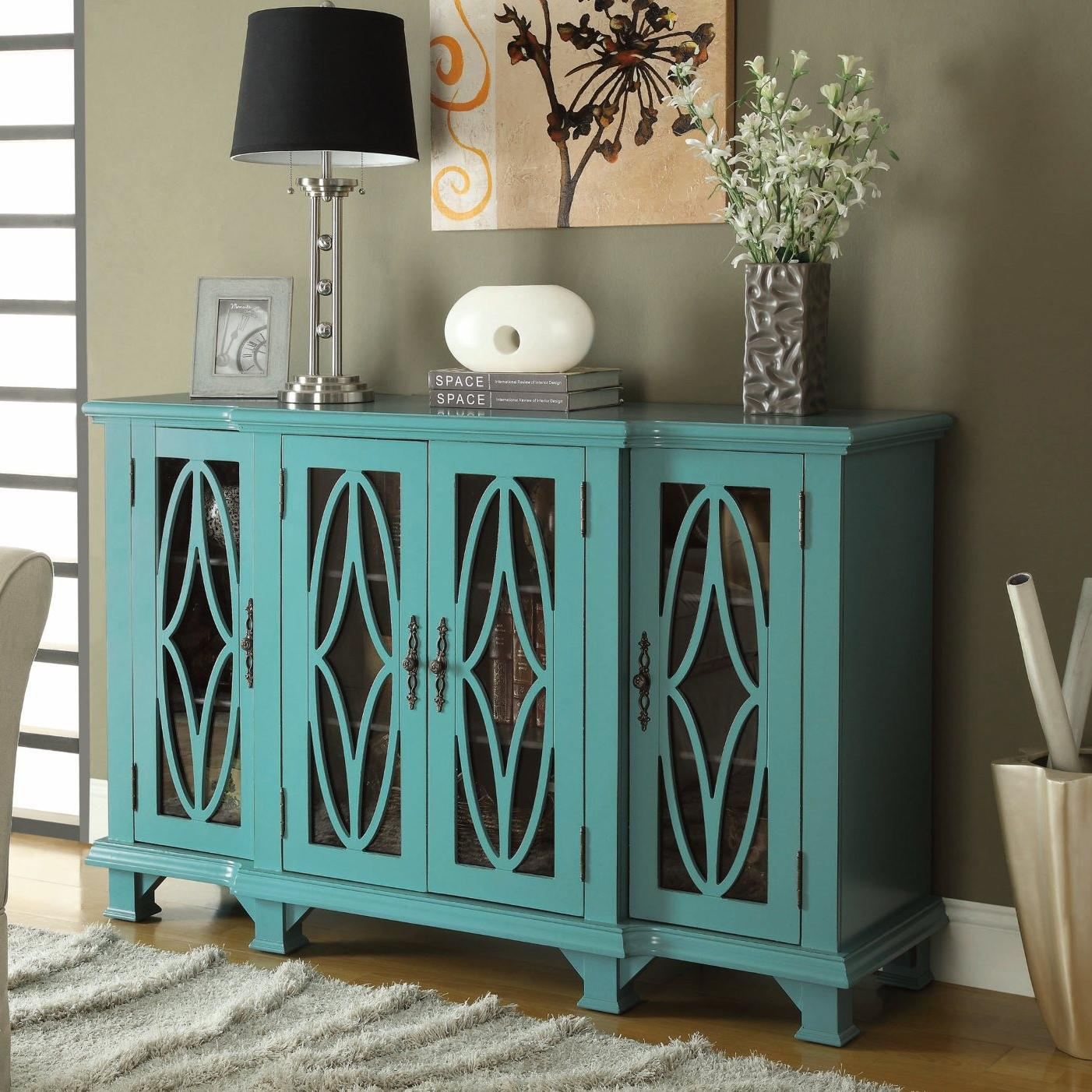 Attractive Teal Blue Cabinet