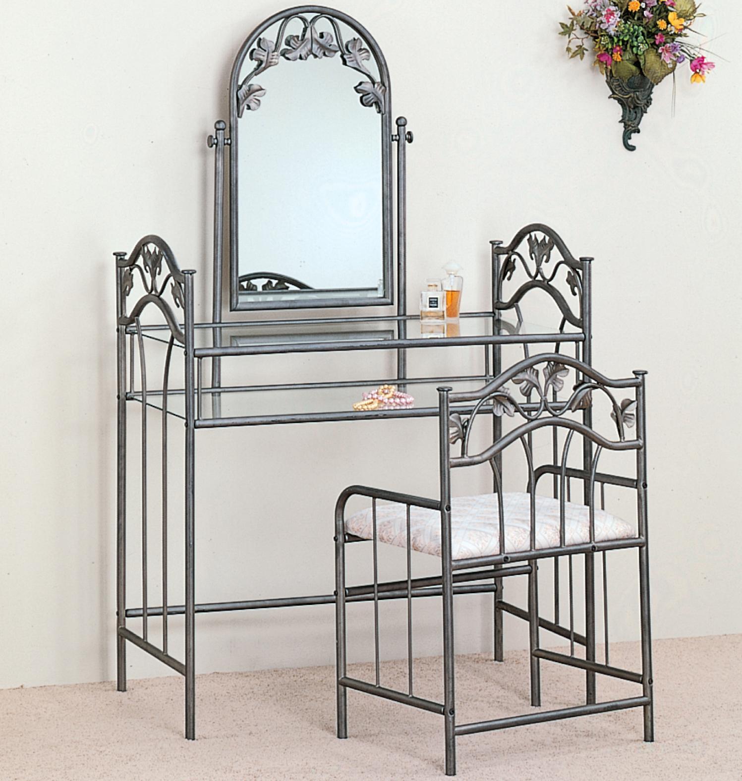 Camila Vanity   Stool SetCamila Vanity   Stool Set   Coco Furniture Gallery Furnishing Dreams. White Metal Vanity Set. Home Design Ideas