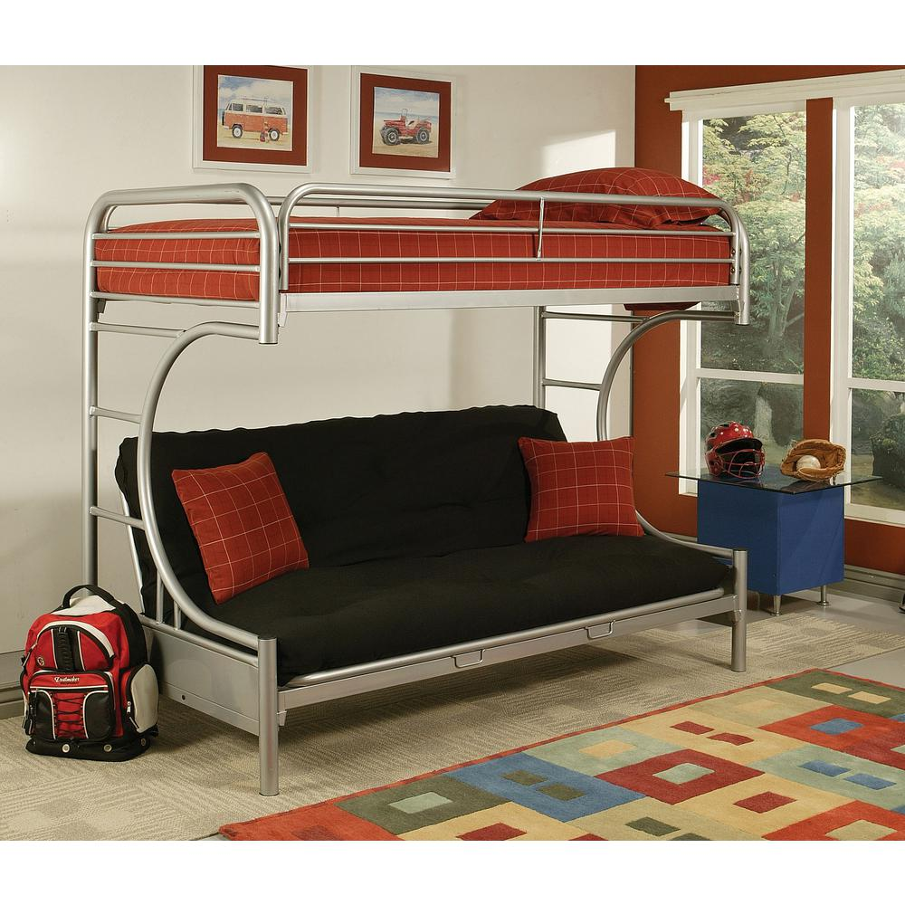Medium image of santy silver twin queen bunk bed  u2014 coco furniture gallery furnishing dreams