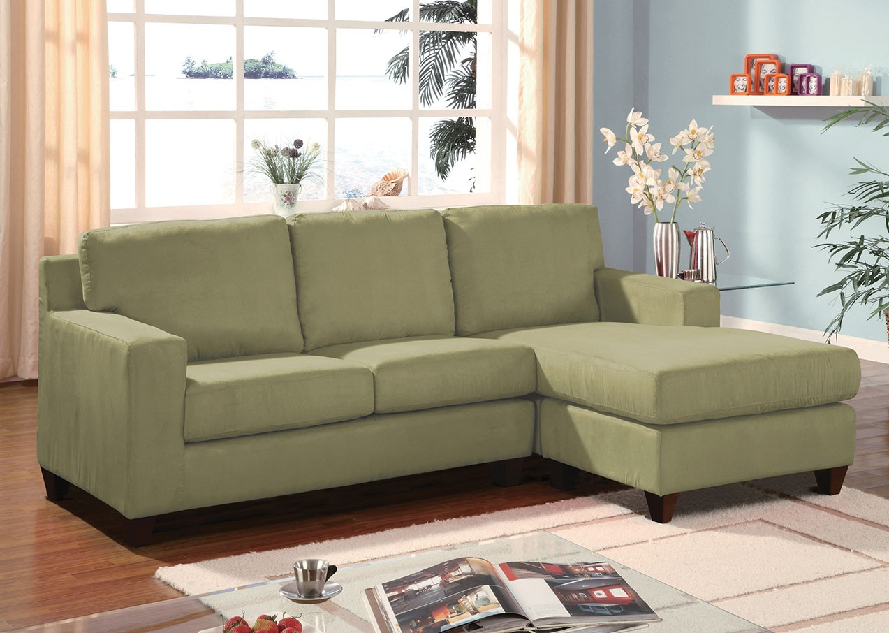 Apple Green Sectional : green sectional sofa with chaise - Sectionals, Sofas & Couches