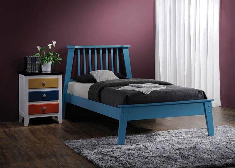 Attractive Marlon Blue Bed