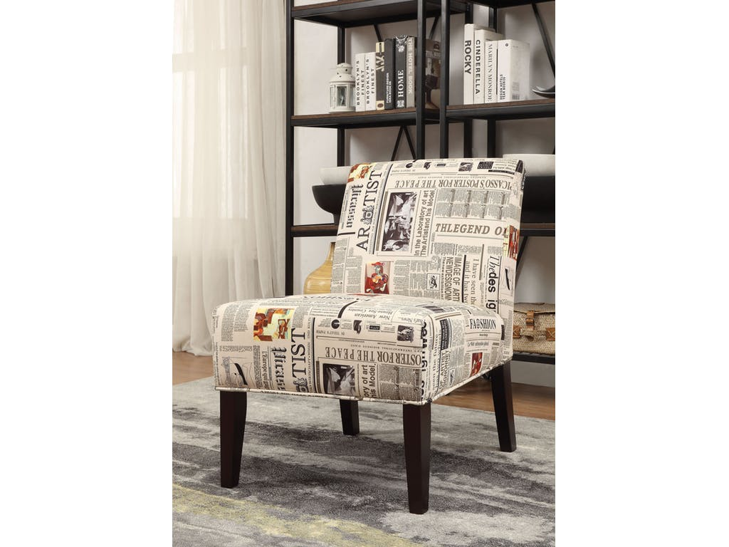 Magazine Print Accent Chair