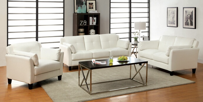 Franchesca White 3PC Sofa Set