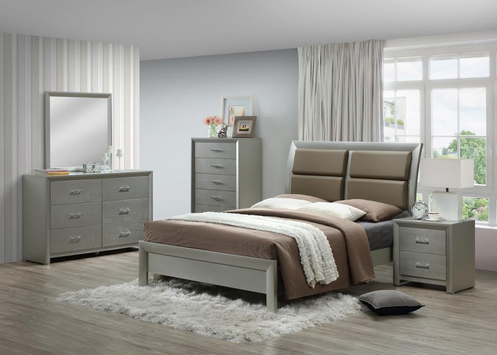 Olivia Grey 4PC Bedroom Set