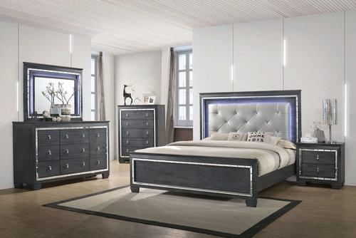 Deko Furniture On Isabella Grey 4pc Bedroom Set Miami Furniture Coco