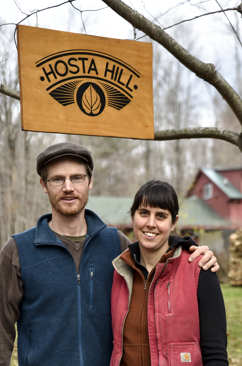 Hosta Hill co-founders Abe Hunrichs and Maddie Elling