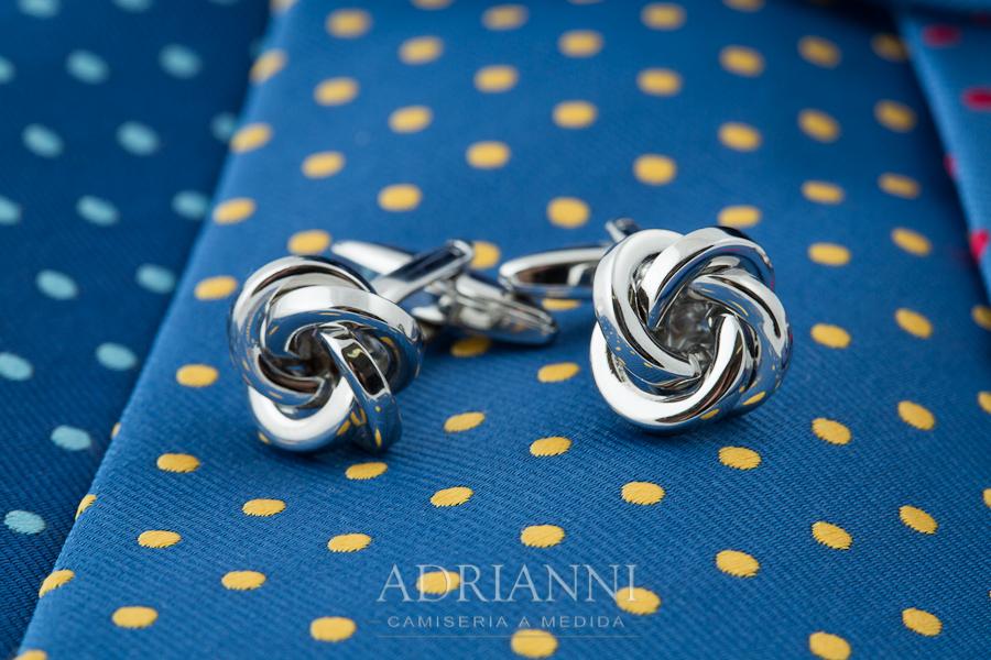 ADRIANNI Camisería - corbatas Lester y gemelo Alexandra Plata