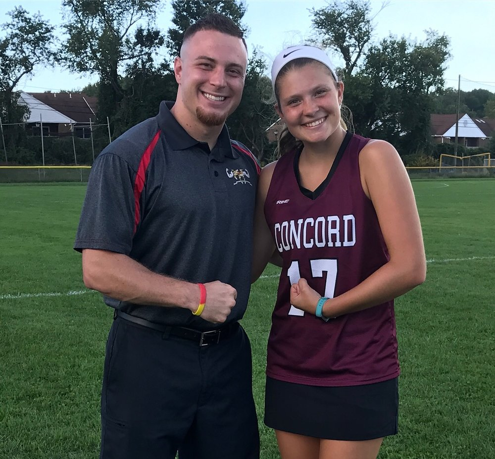 "Concord High School's ""Stick it to Muscle Disease"" Player of the Game, Sarah Raab!"