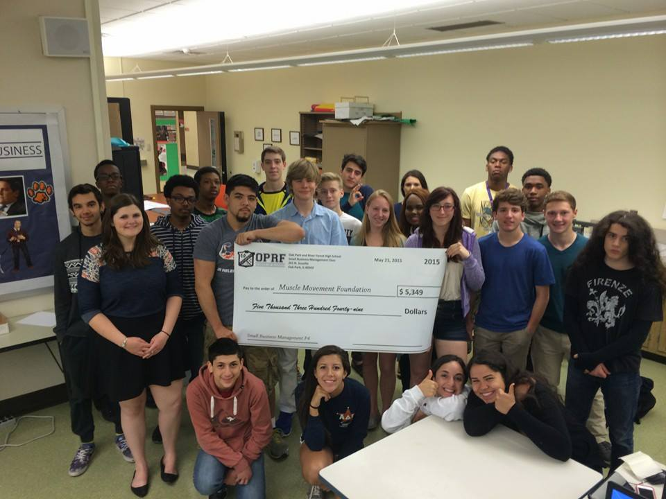 Students from a business class at Oak Park River Forest High School (IL) chose MMF for their end of the year project!