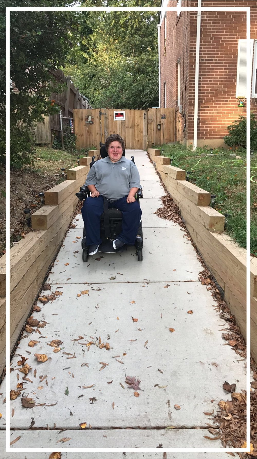 Your support continues to allow MMF to provide life-changing accommodations to our Muscle Champions, so our families' days are filled with smiles and quality of life! MMF Muscle Champion, Eddie Hazeldine, is enjoying his new wheelchair accessible ramp!