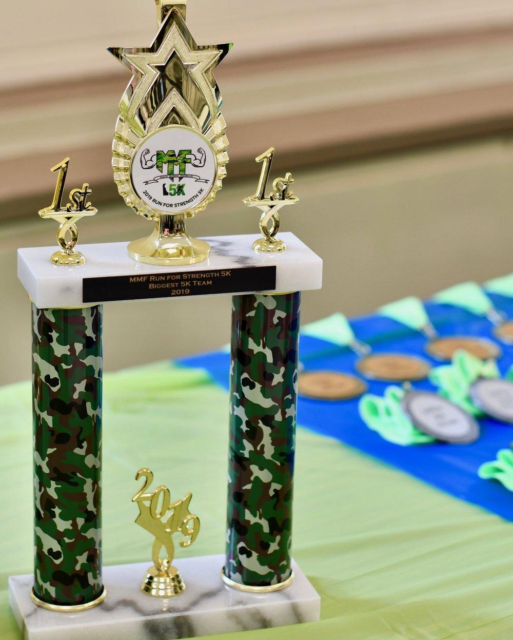Biggest 5k team trophy via Champion Trophies, Inc.