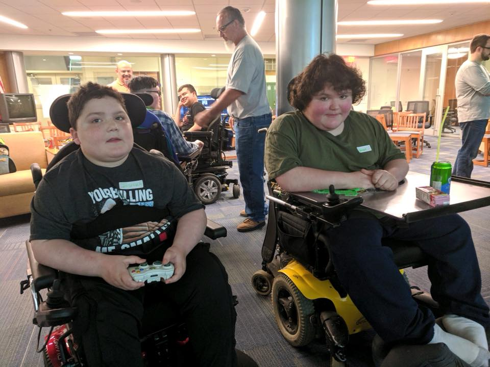 Salesianum School (DE) hosted a video game day for MMF Muscle Champions!