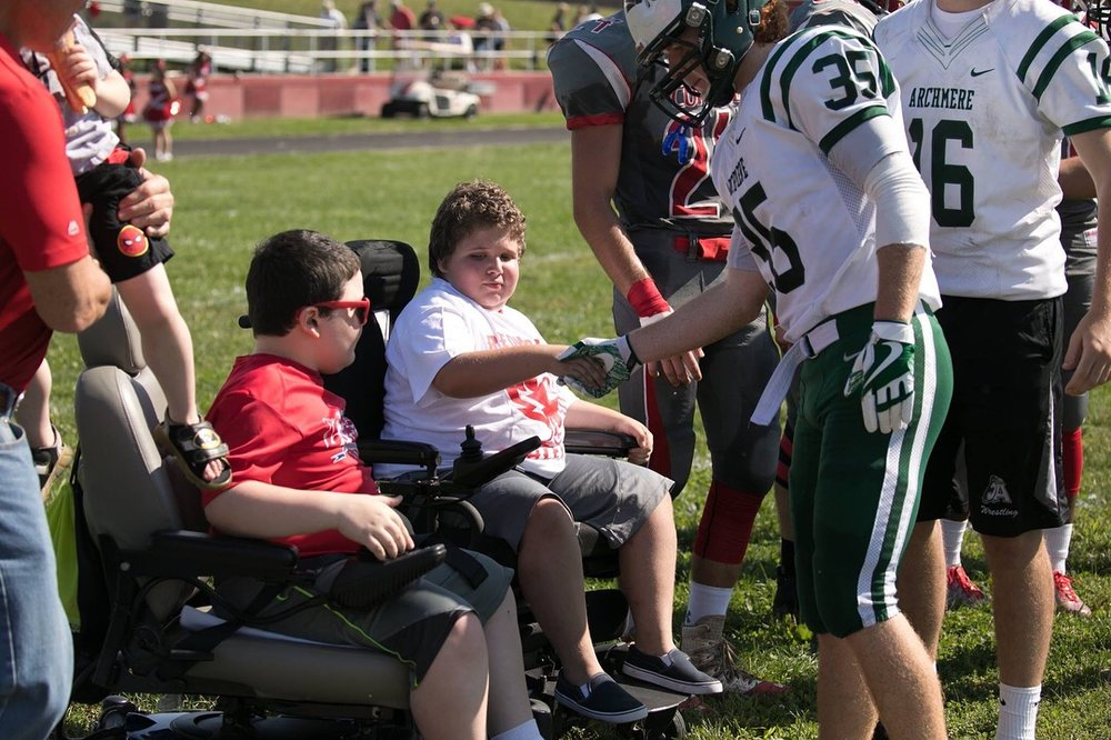 Conrad Schools of Science (DE) joined MMF's Charity of Champions Program and honored Muscle Champions Eddie Hazeldine and Josh Wallace as their home game captains!